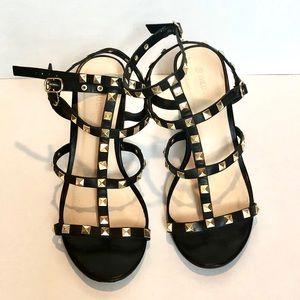 Shoes - Rockstud inspired caged studded sandal
